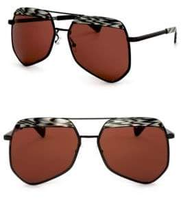 Grey Ant Hexcelled 55MM The Wire Hexagon Aviator Sunglasses