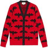 Gucci Bat jacquard knit cardigan