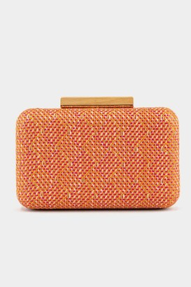 francesca's Kelsey Wooden Hardcase Clutch - Neon Pink
