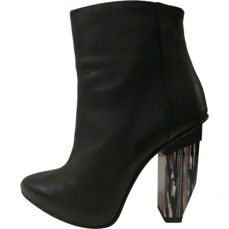 Miista Black Leather Ankle boots