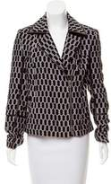 Diane von Furstenberg Tris Honeycomb Leather-Trimmed Jacket