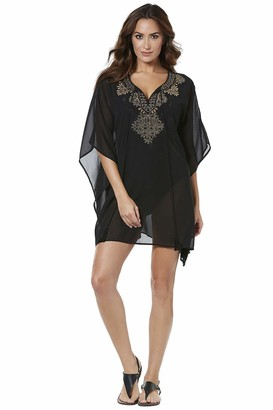 Miraclesuit Caftan in Petal to The Metal(Size:L)