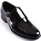 JustOneStyle New Mooda Classic Formal Monk Strap Loafers Slips on Leather Men Dress Shoes