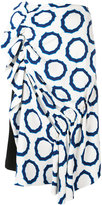 J.W.Anderson circle print skirt - women - Silk/Polyester/Spandex/Elastane/Viscose - 8