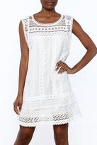 BB Dakota White Sleeveless Crochet Dress