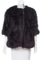 Wayne Three-Quarter Sleeve Faux Fur Jacket