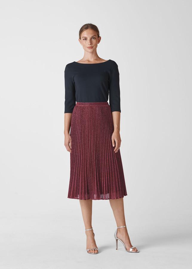 Sparkle Pleated Skirt