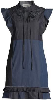 Coach 1941 Denim Pachwork Shift Dress