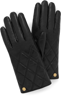 Mulberry Quilted Nappa Gloves Black Nappa Leather