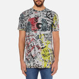 Vivienne Westwood Men's Newspaper Rubbish TShirt - Grey