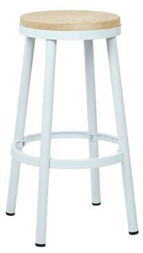 "Laurel Foundry Modern Farmhouse Isabel Bar & Counter Stool Seat Height: Bar Stool (30"" Seat Height), Color: White"