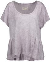 Current/Elliott The Girlie Marled Linen And Cotton-Blend T-Shirt