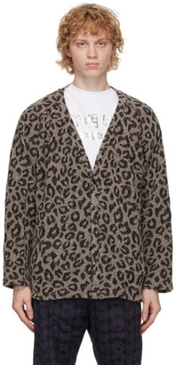 Needles Grey Leopard Cardigan