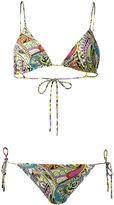 Etro paisley print bikini - women - Nylon/Spandex/Elastane - 40
