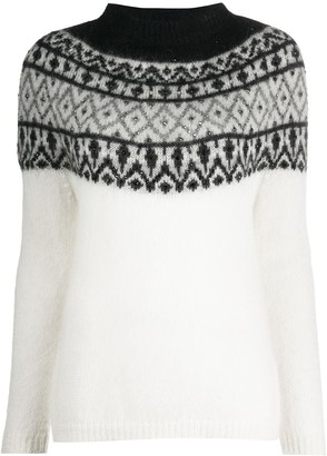 Blumarine Patterned Stud Detail Jumper