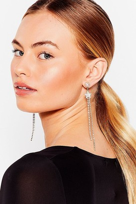 Nasty Gal Womens Sail to the Moon Star Diamante Drop Earrings - Gold