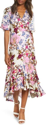 Adelyn Rae Abbi Mixed Floral Wrap Dress
