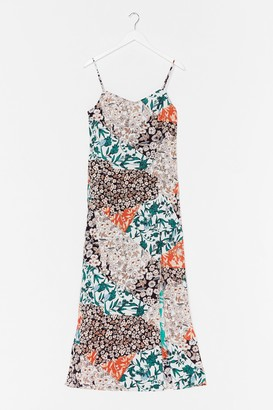 Nasty Gal Womens Mix Things Up Floral Maxi Dress - Orange - M