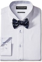 Nick Graham Men's Cotton Twill Dress Shirt with Jolly Rodger Bow Tie