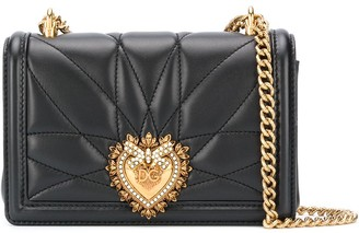 Dolce & Gabbana Devotion heart leather cross body bag