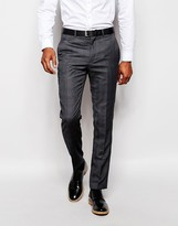 French Connection Self Check Suit Trousers - Grey
