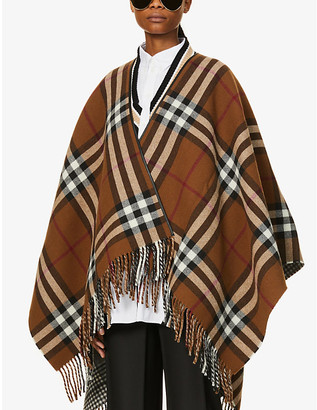 Burberry Reversible oversized wool cape