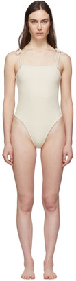 Le Petit Trou Off-White Strappy One-Piece Swimsuit