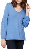 Mint Velvet Balloon Sleeve Knit, Light Blue