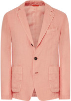 Barena - Peach Slim-fit Unstructured Linen Blazer