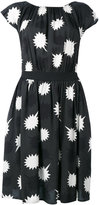 Diesel star detail pleated dress - women - Polyester/Viscose - L