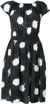 Diesel star detail pleated dress - women - Polyester/Viscose - XS