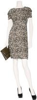 L'Agence LAgence Earth/Granite Burn-Out Velvet Print Dress