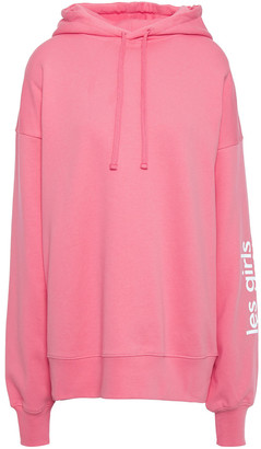 Les Girls Les Boys Printed French Cotton-terry Hoodie