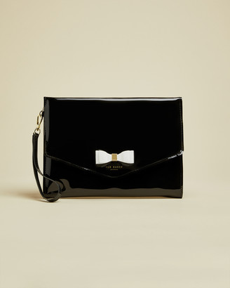 Ted Baker HARLIEE Vinyl bow pouch