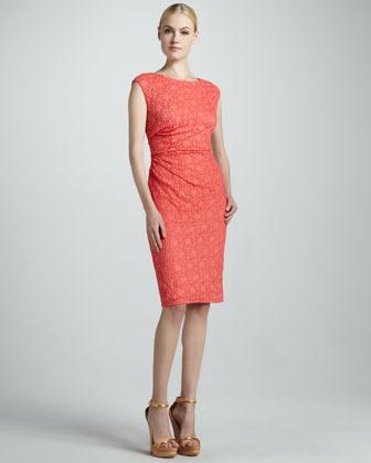 David Meister Sleeveless Dress with Open Back
