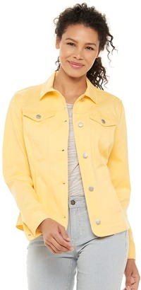 Croft & Barrow Women's Long Jean Jacket