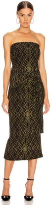 Norma Kamali Four Sleeve Off Shoulder Long Dress in Olive Sweater | FWRD
