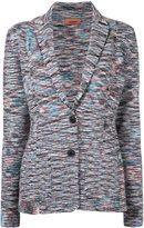 Missoni classic collar striped cardigan - women - Nylon/Polyester/Cupro/Wool - 40