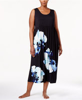 Alfani Plus Size Floral-Print Knit Nightgown, Only at Macy's