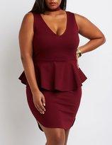 Charlotte Russe Plus Size Choker Detail Peplum Dress