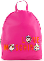 Love Moschino logo medium backpack - women - Polyurethane - One Size