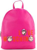 Love Moschino logo medium backpack