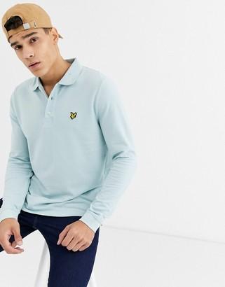Lyle & Scott long sleeve polo shirt-Blue