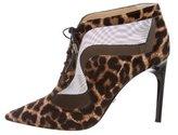 Diane von Furstenberg Mesh-Paneled Ponyhair Ankle Boots