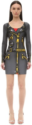 Moschino Trompe L'oeil Lycra Dress