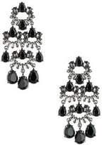 Carolee Midnight Tower Black diamond, Hematite and Crystal Chandelier Earrings