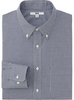 Uniqlo Men Easy Care Checked Long Sleeve Shirt
