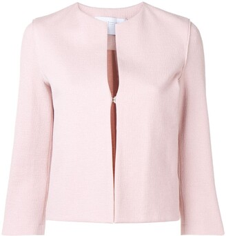 Harris Wharf London collarless jacket