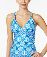 LaBlanca La Blanca True Blue Tile-Print Tankini Top