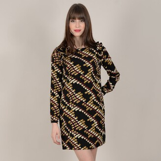 Molly Bracken Printed Shift Dress with Long Sleeves